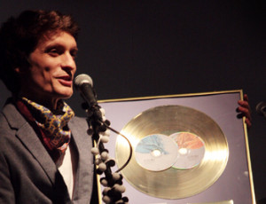 Atanas receives  a golden record